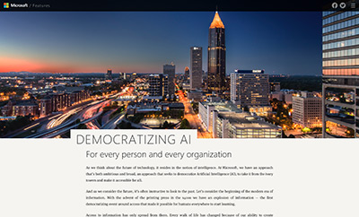 Democratizing AI